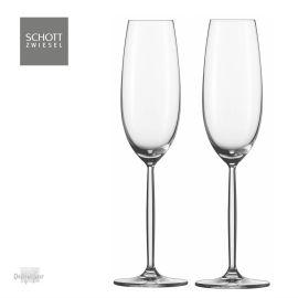 2 Champagne glazen Diva