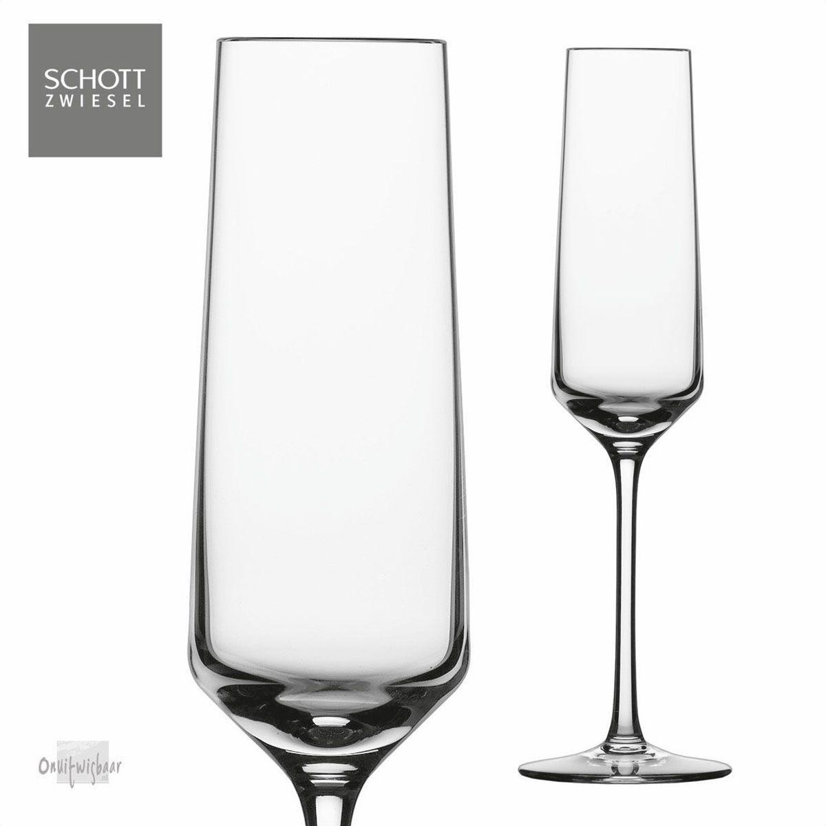 2 champagne glazen pure schott zwiesel