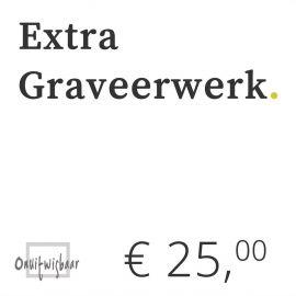 €25 extra graveerwerk