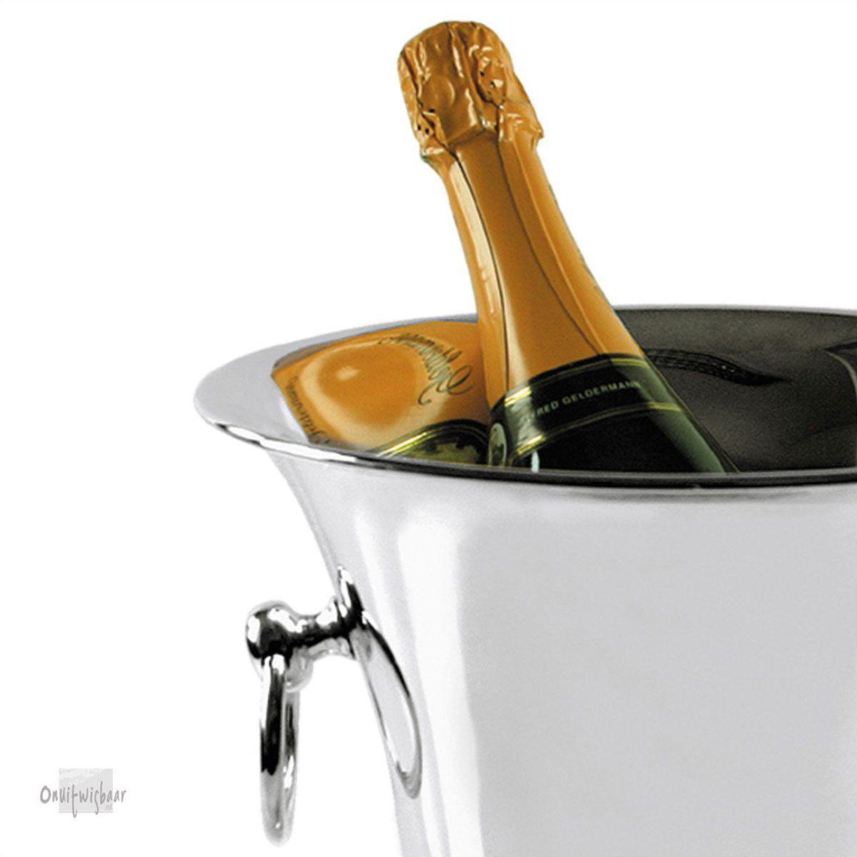 klassieke verzilverde champagnekoeler