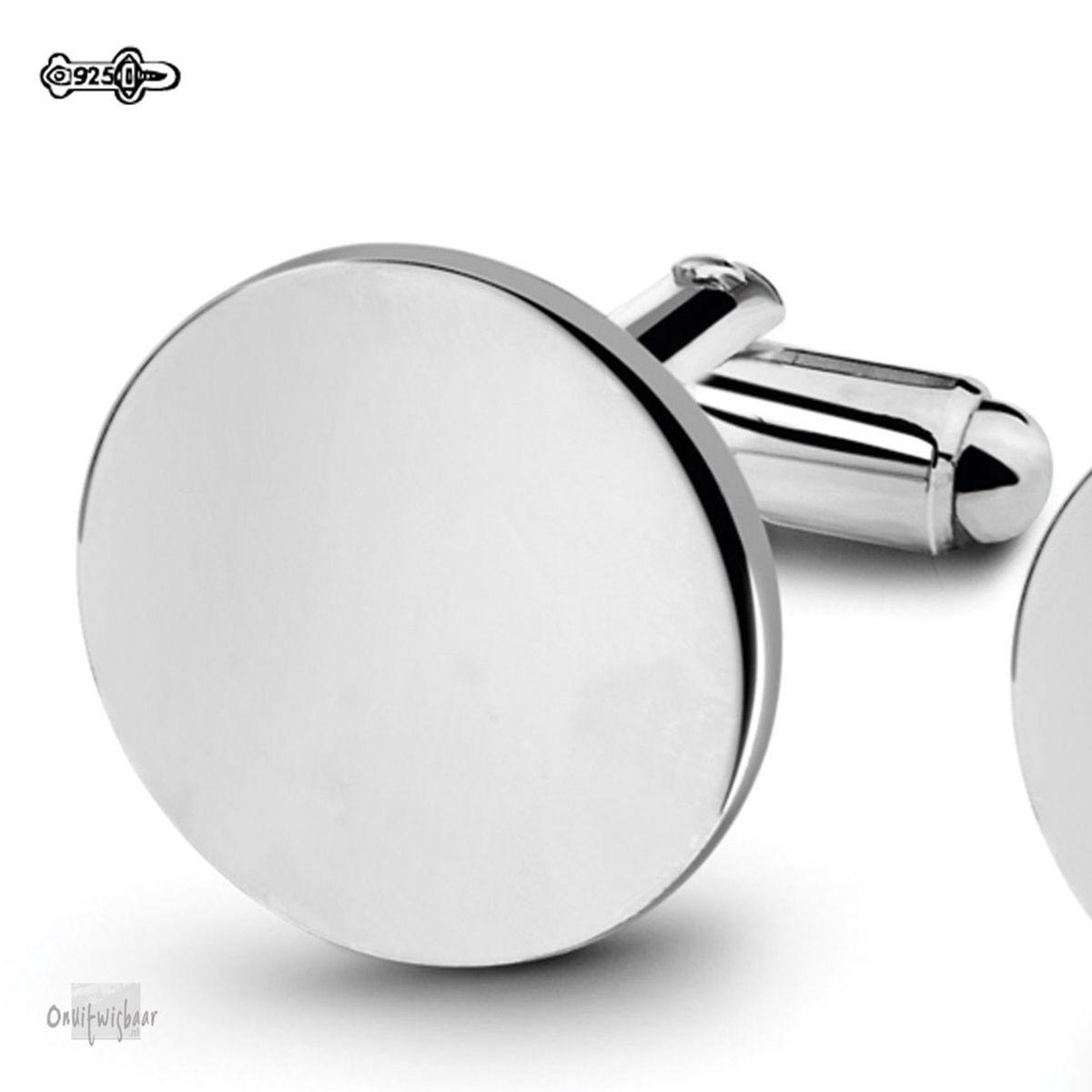 manchetknopen rond zilver