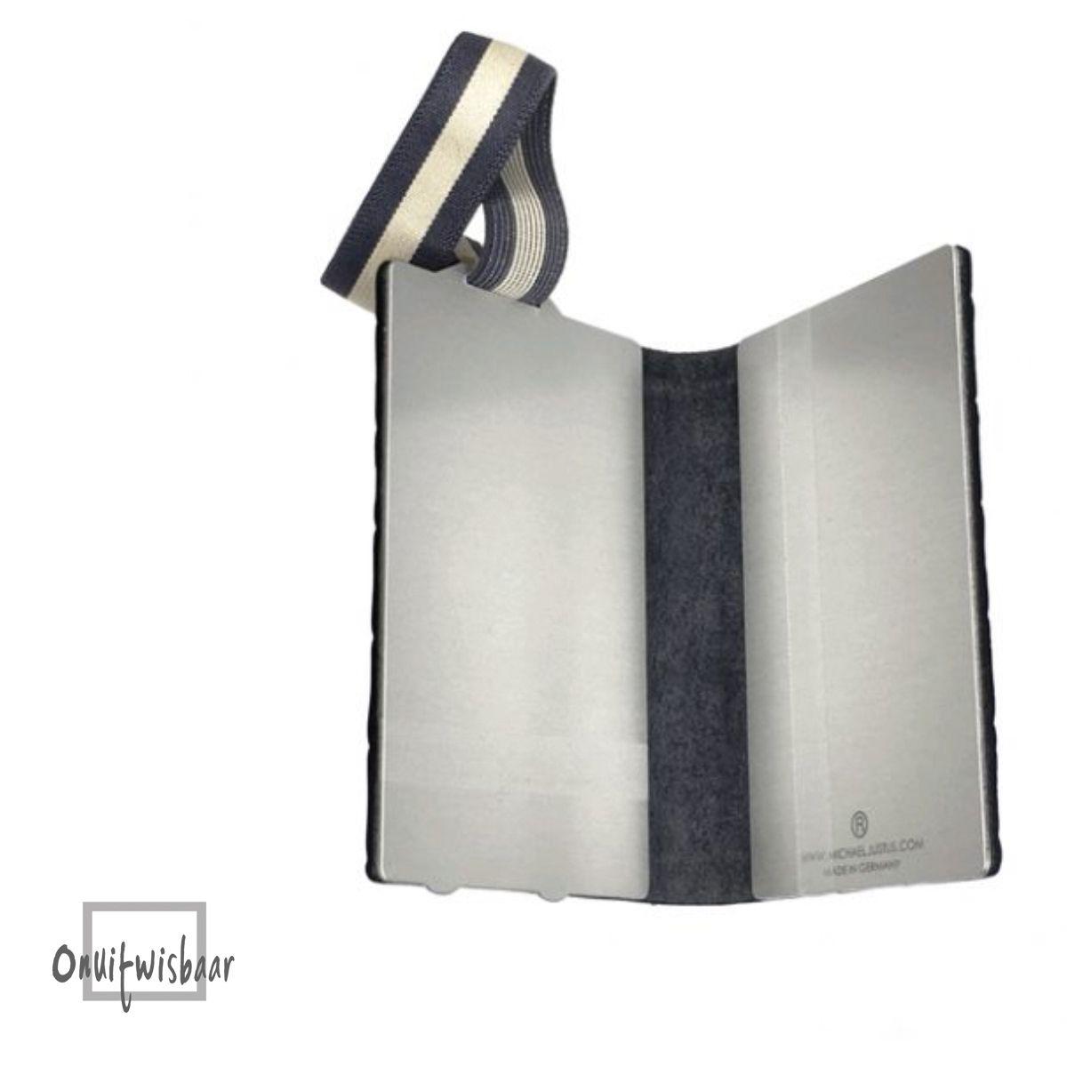 q7 wallet croco black blue