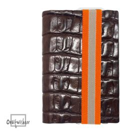 Q7 wallet Croco Brown Orange