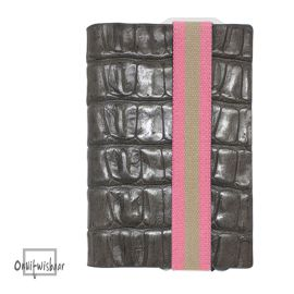 Q7 wallet Croco Grey Pink