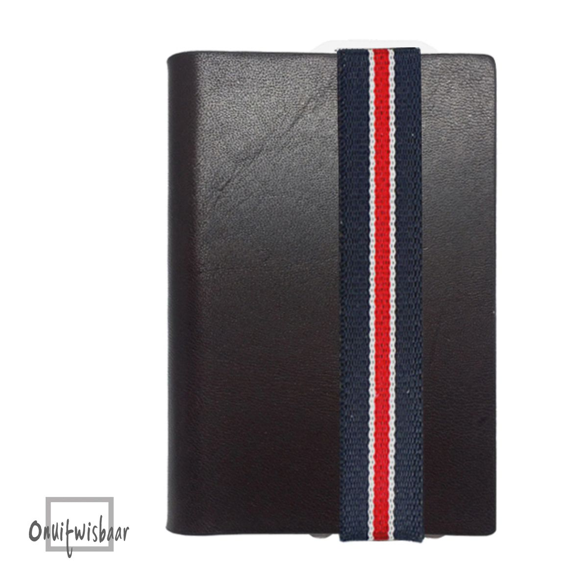 q7 wallet smooth brown bluewhitered