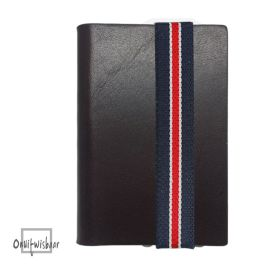 Q7 wallet Smooth Brown blue-white-red