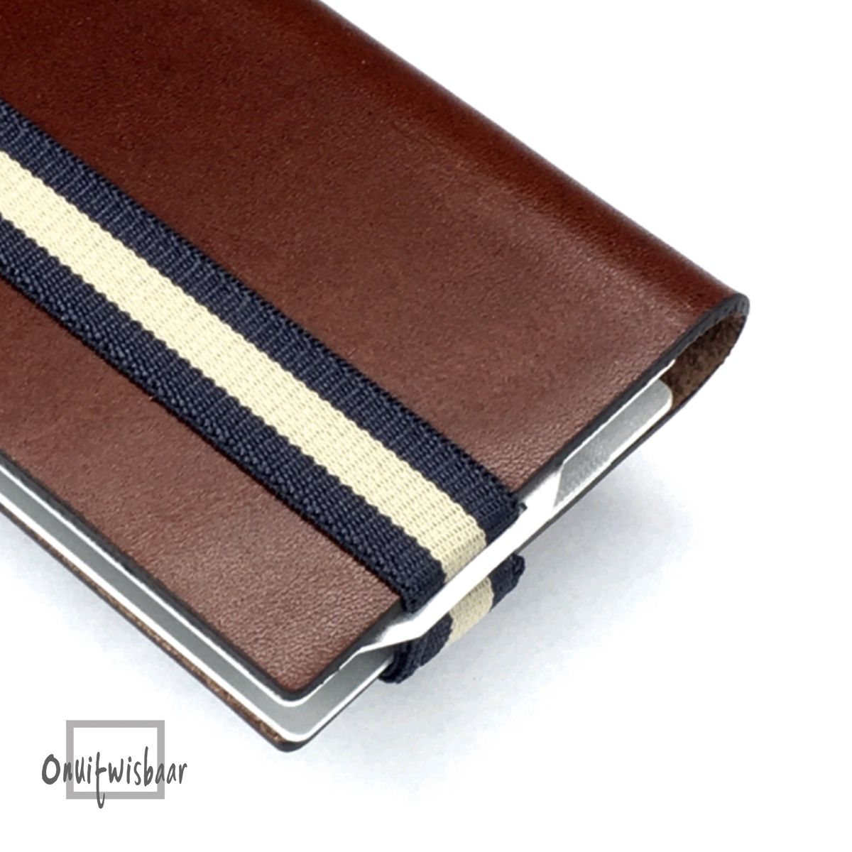 q7 wallet smooth cognac blue