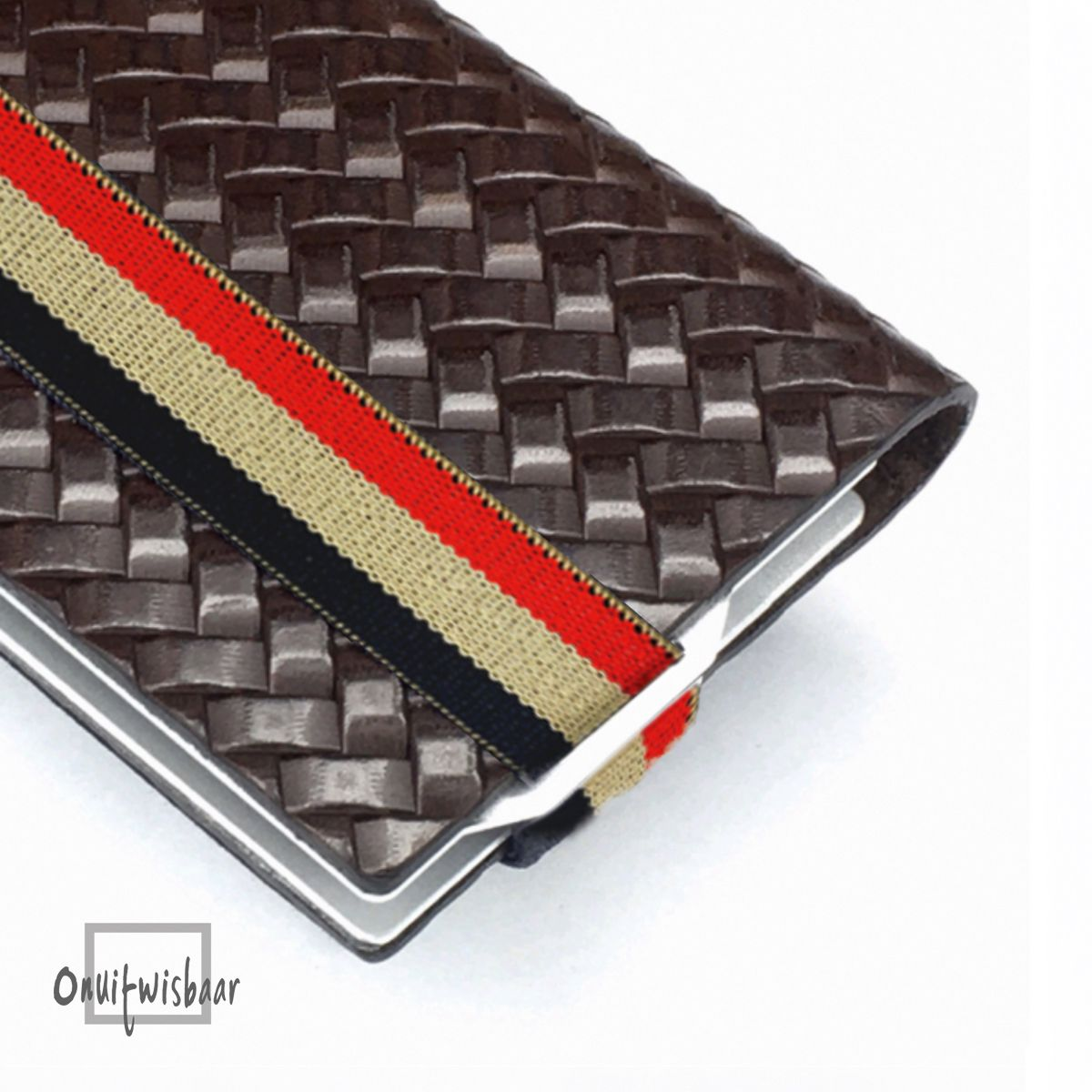 q7 wallet weave brown 3chol