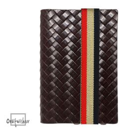 Q7 wallet Weave Brown 3C-hol
