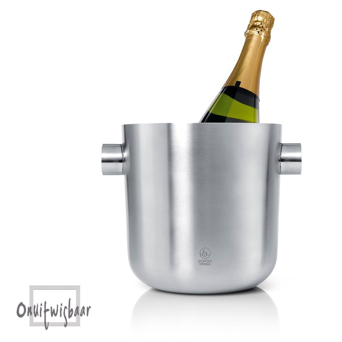 rvs champagne koeler met oren