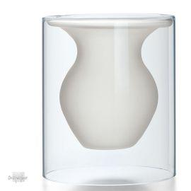 vaas mat & transparant glas