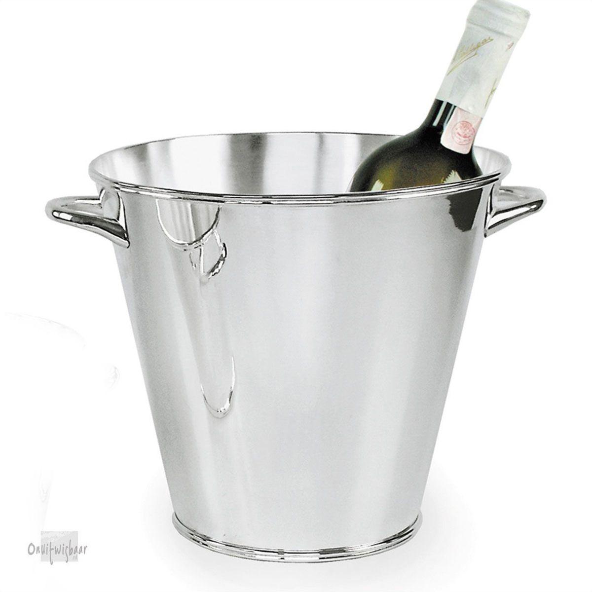 verzilverde champagnekoeler