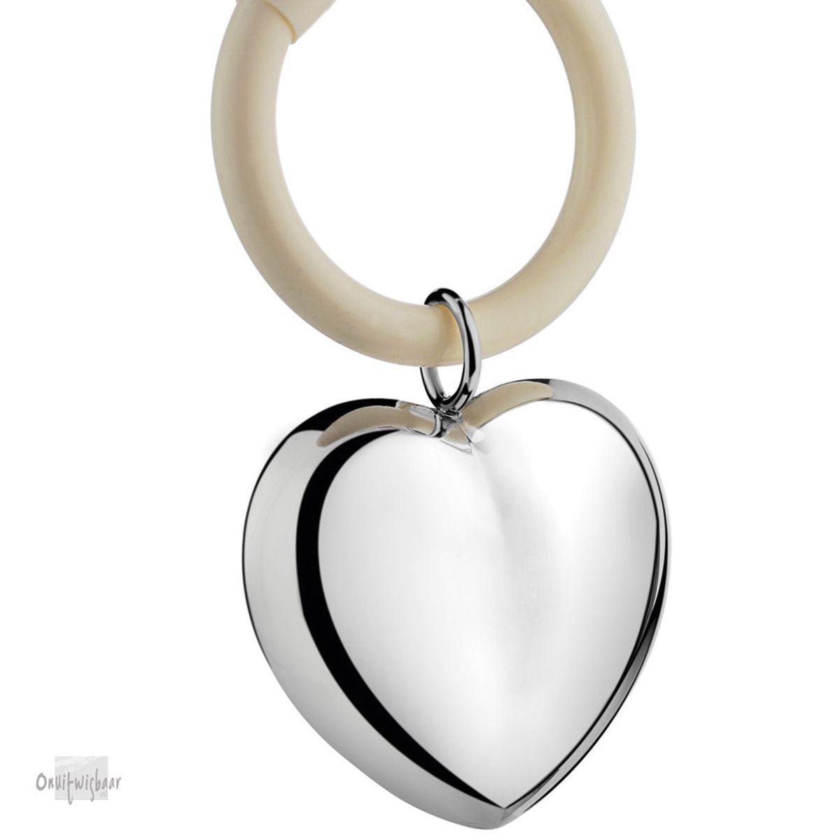 verzilverde rammelaar hart