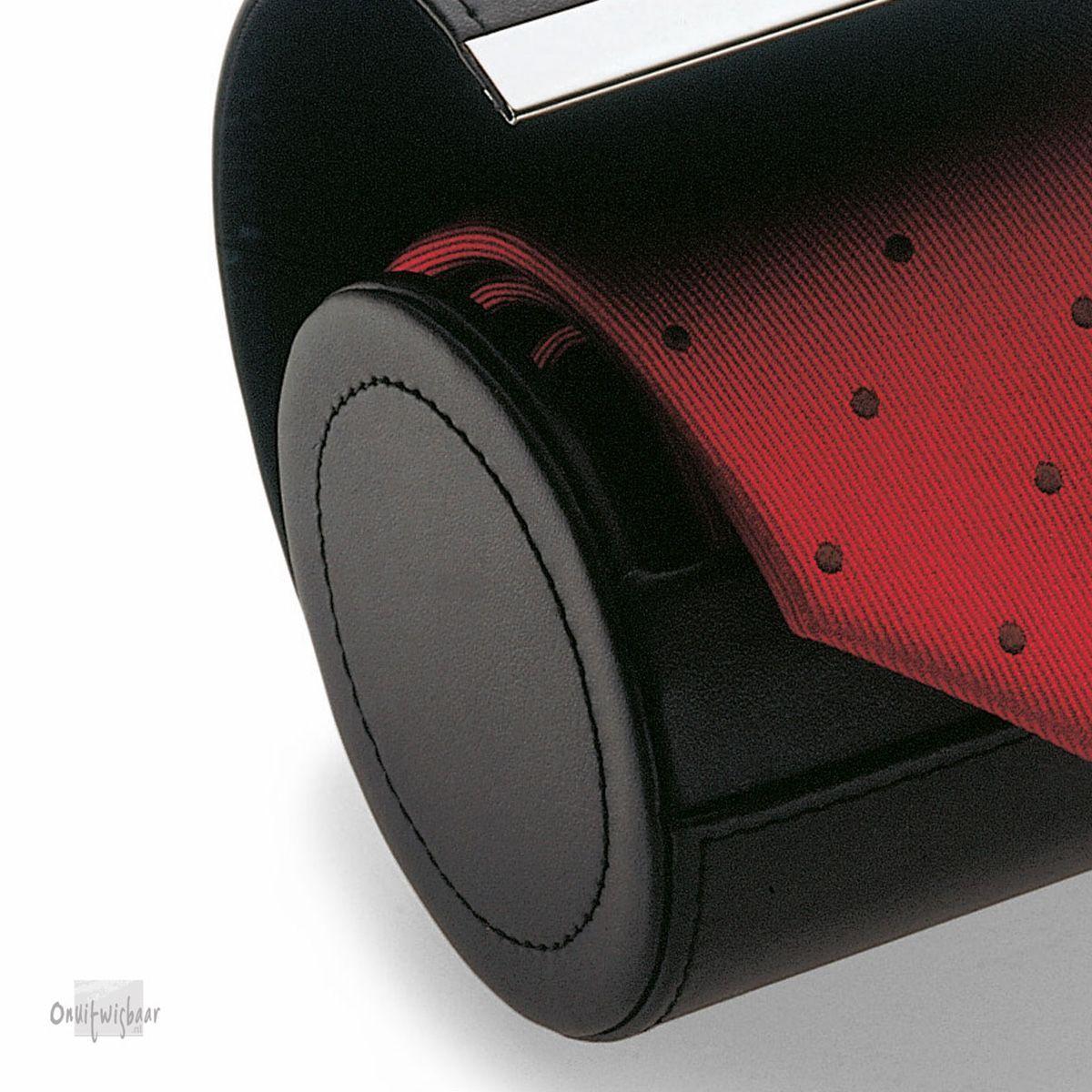 zwart leren stropdas opbergbox
